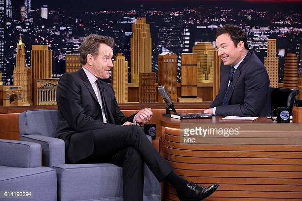 Actor Bryan Cranston during an interview with host Jimmy Fallon on October 12 2016