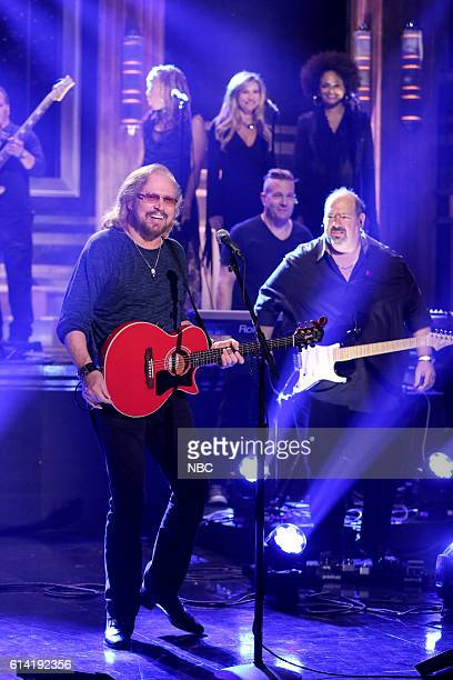 Musical guest Barry Gibb performs on October 12 2016