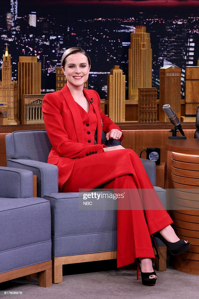 """NBC's """"The Tonight Show Starring Jimmy Fallon"""" with guests Ricky Gervais, Evan Rachel Wood, Michael Buble"""