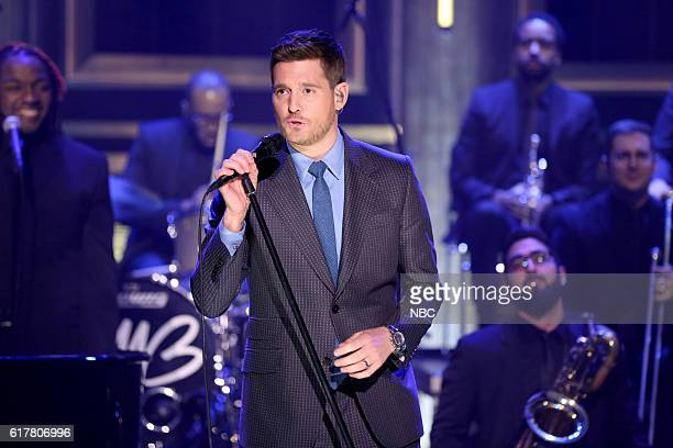 Musical guest Michael Bublé performs on October 24 2016