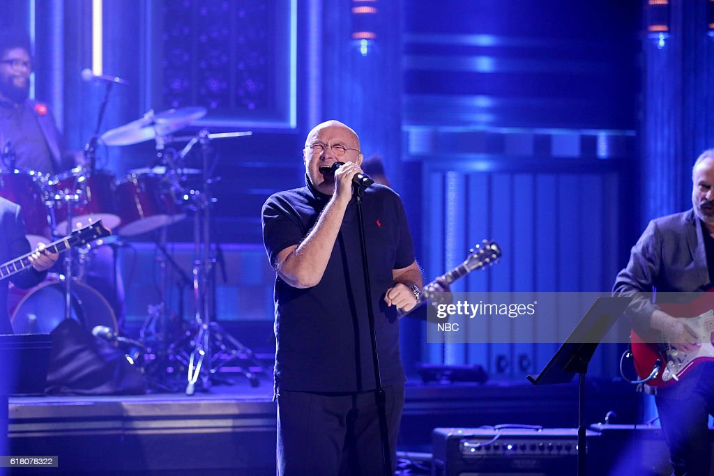 Musical guest Phil Collins with The Roots perform on October 25, 2016 --