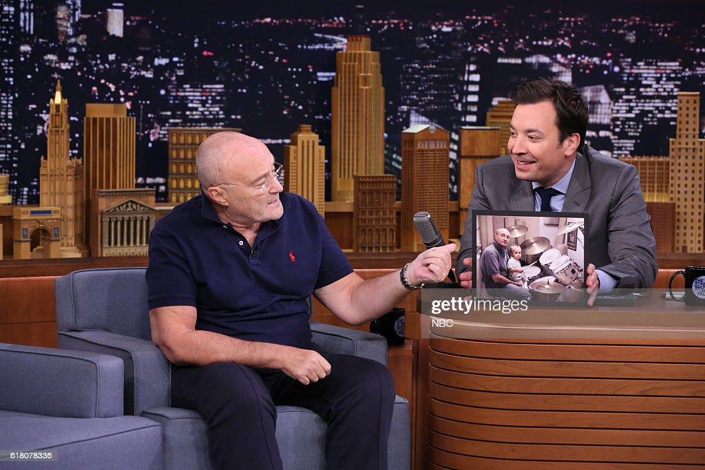 Singer Phil Collins during an interview with host Jimmy Fallon on October 25, 2016 --