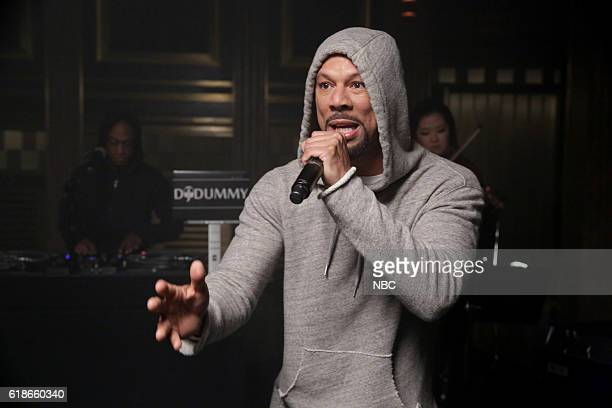 Musical guest Common performs on October 27 2016