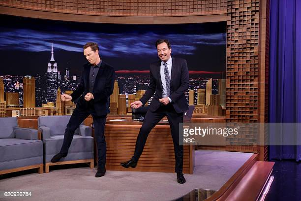 Actor Benedict Cumberbatch during an interview with host Jimmy Fallon on November 3 2016