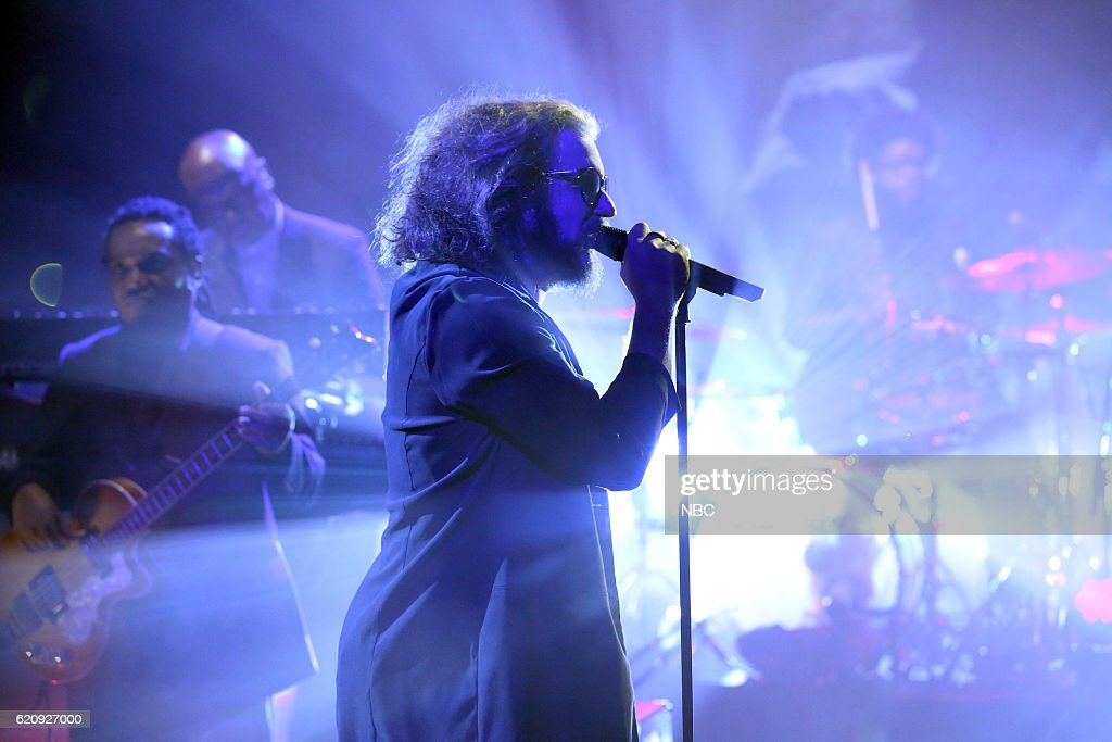 Musical guest Jim James performs with The Roots on November 3, 2016 --