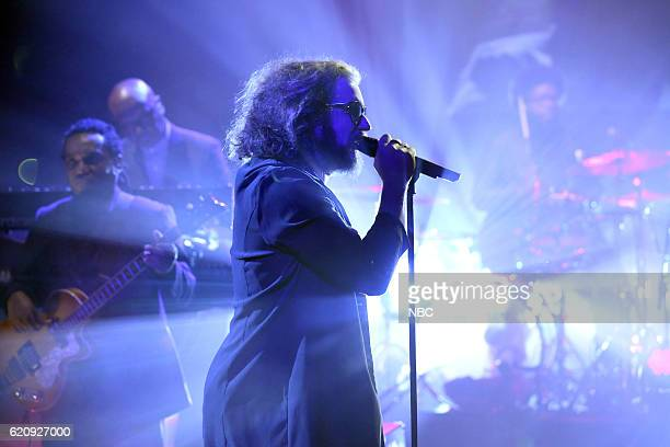 Musical guest Jim James performs with The Roots on November 3 2016