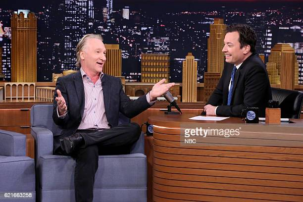 Comedian Bill Maher during an interview with host Jimmy Fallon on November 7 2016