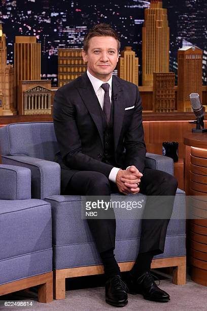 Actor Jeremy Renner during an interview on November 11 2016