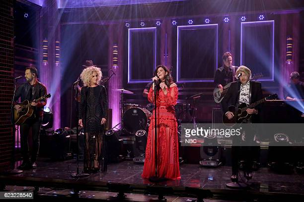 Jimi Westbrook Kimberly Schlapman Karen Fairchild and Phillip Sweet of musical guest Little Big Town perform on November 14 2016