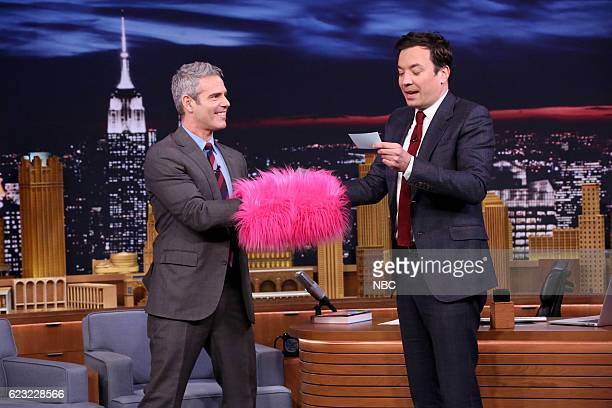 Talk show host Andy Cohen during an interview with host Jimmy Fallon on November 14 2016