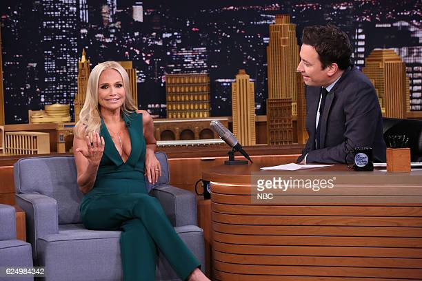 Actress Kristin Chenoweth during an interview with host Jimmy Fallon on November 21 2016
