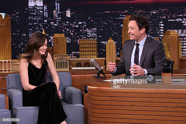 Actress Alexis Bledel during an interview with host Jimmy Fallon on November 28 2016