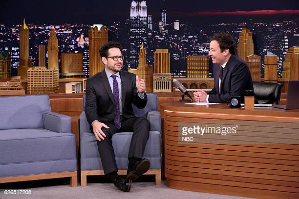 Director JJ Abrams during an interview with host Jimmy Fallon on November 29 2016