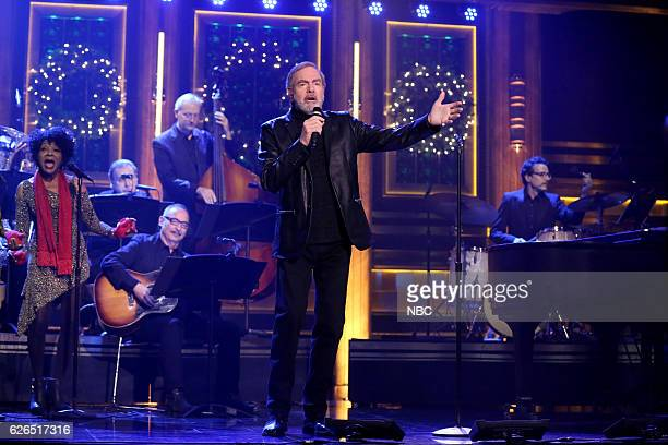 Musical guest Neil Diamond performs on November 29 2016