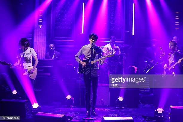 Musical guest Car Seat Headrest performs on November 30 2016