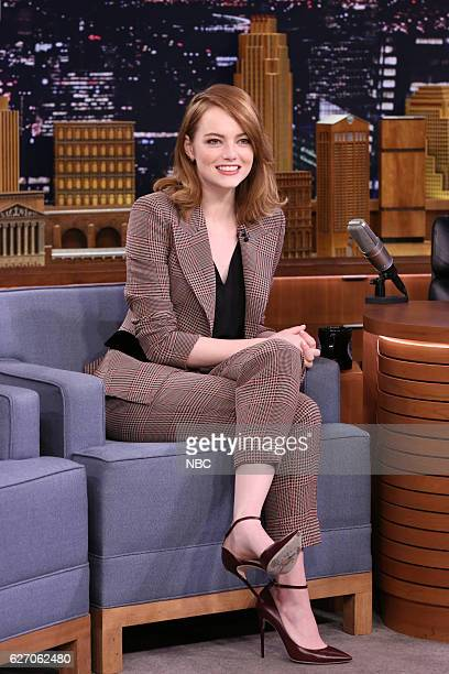 Actress Emma Stone during an interview on December 01 2016