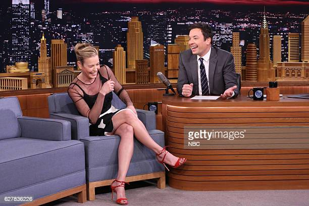 Comedian Chelsea Handler during an interview with host Jimmy Fallon on December 02 2016