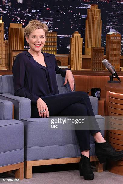 Actress Annette Bening during an interview on December 05 2016