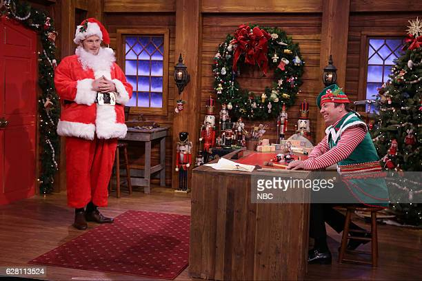 Actor Chris Pratt and host Jimmy Fallon during the 'Mad Lib Theater' sketch on December 06 2016