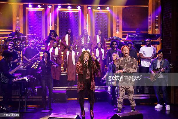 Musical guests Pharrell Williams and Kim Burrell perform on December 08 2016