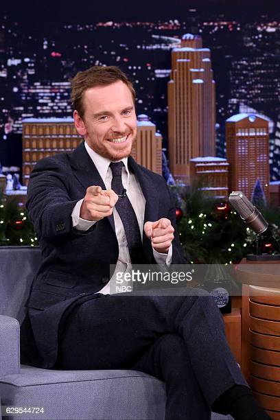 Actor Michael Fassbender during an interview on December 13 2016