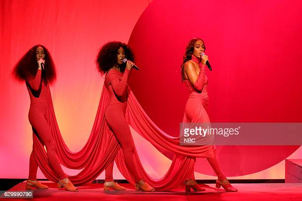 Musical guest Solange performs on December 15 2016