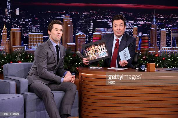 Actor Andrew Rannells during an interview with host Jimmy Fallon on December 16 2016
