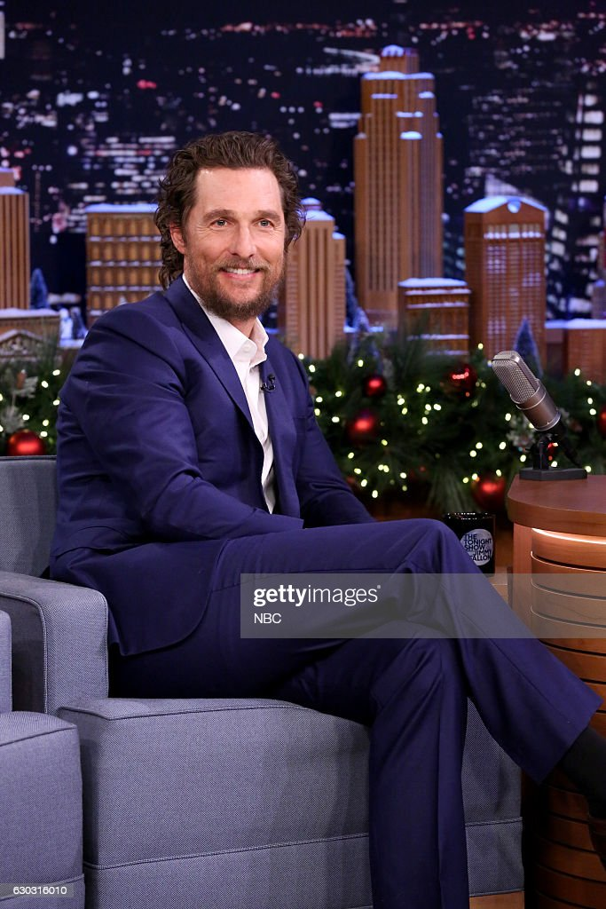 Actor Matthew McConaughey during an interview on December 20, 2016 --