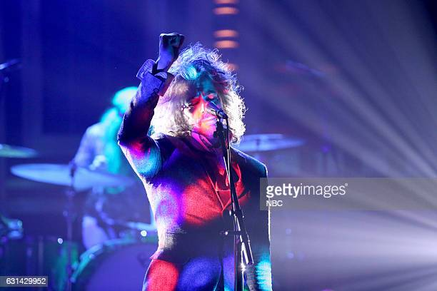 Wayne Coyne of musical guest The Flaming Lips performs on January 10 2017