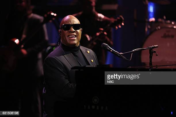 Musical Guest Stevie Wonder performs with The Roots on January 11 2017