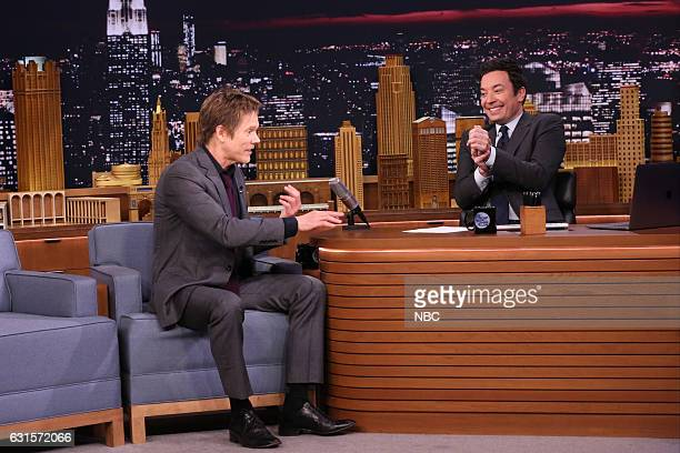 Actor Kevin Bacon during an interview with host Jimmy Fallon on January 12 2017