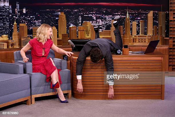 Actress Claire Danes during an interview with host Jimmy Fallon on January 13 2017