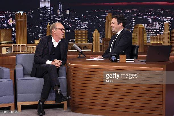Actor Michael Keaton during an interview with host Jimmy Fallon on January 17 2017