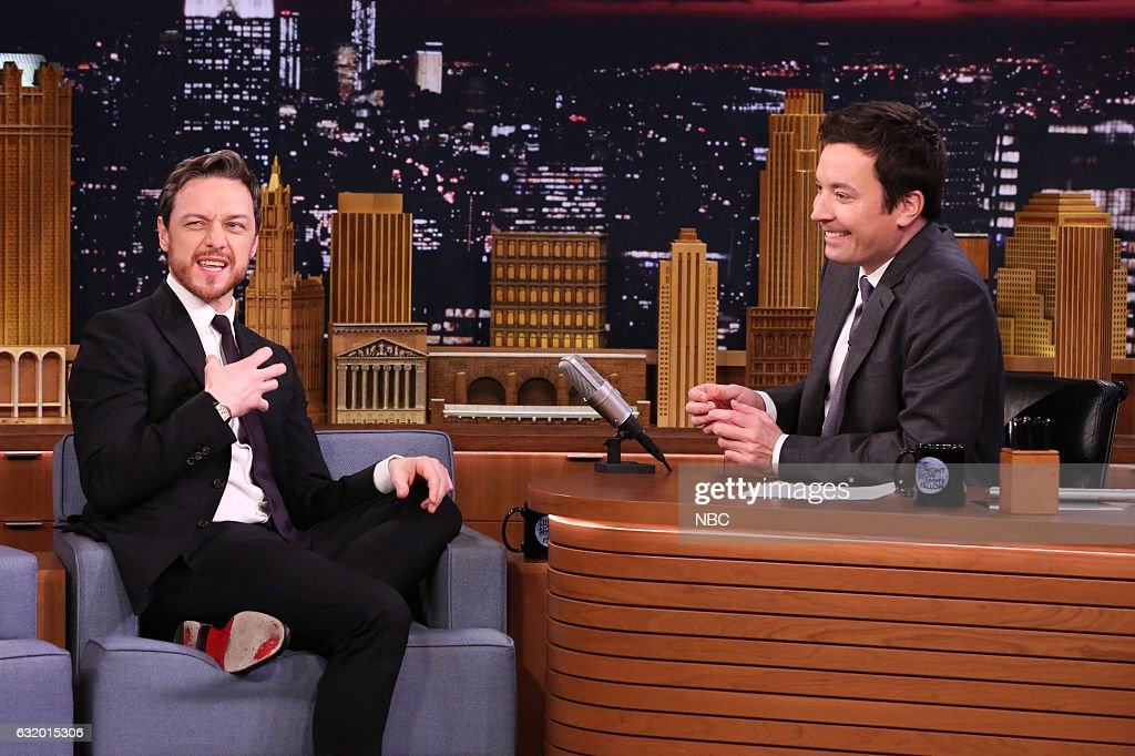 Actor James McAvoy during an interview with host Jimmy Fallon on January 18, 2017 --
