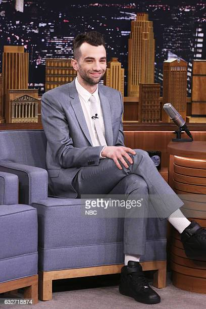 Actor Jay Baruchel during an interview with host Jimmy Fallon on January 25 2017