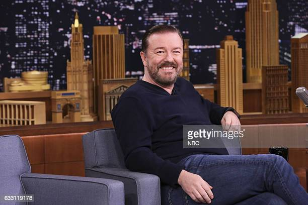 Comedian Ricky Gervais during an interview on January 30 2017