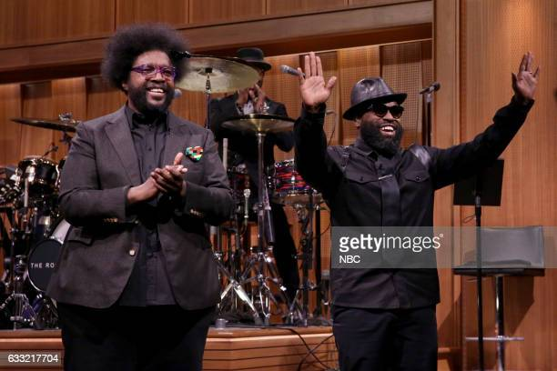 """Ahmir 'Questlove' Thompson and Tariq """"Black Thought"""" Trotter of The Roots on January 31 2017"""