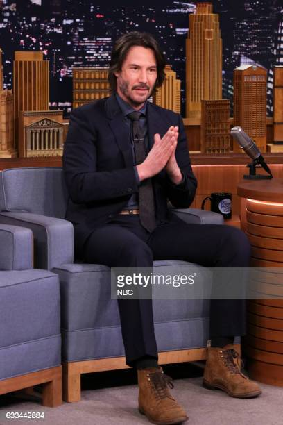 Actor Keanu Reeves during an interview on February 1 2017