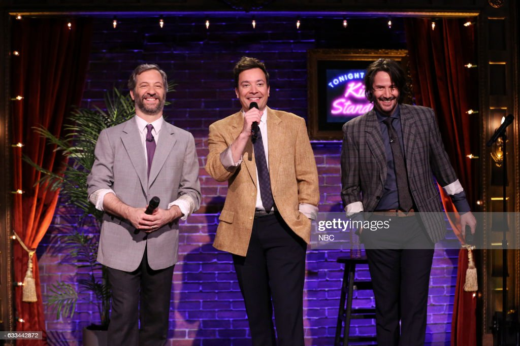 "NBC's ""The Tonight Show Starring Jimmy Fallon"" with guests Keanu Reeves, Judd Apatow, The Lumineers"
