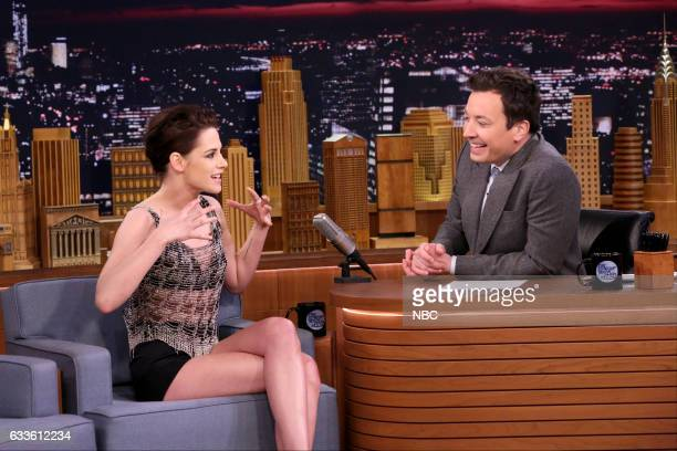 Actress Kristen Stewart during an interview with host Jimmy Fallon on February 2 2017