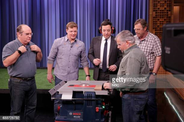Experts Richard Trethewey and Kevin O'Connor from 'Ask This Old House' host Jimmy Fallon and experts Tom Silva and Roger Cook from 'Ask This Old...