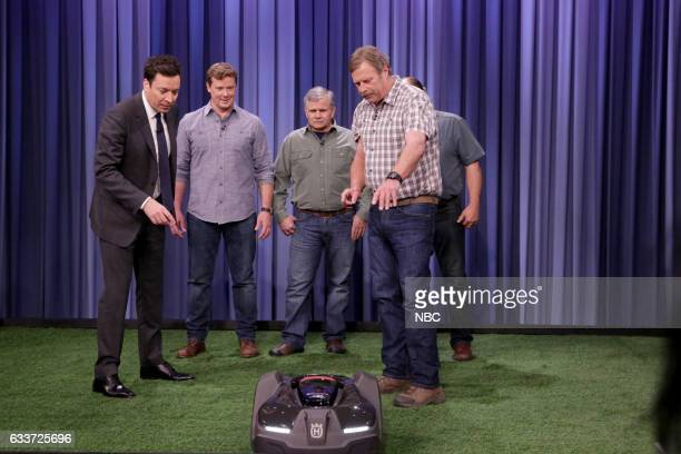 Host Jimmy Fallon and the experts Kevin O'Connor Tom Silva and Roger Cook from 'Ask This Old House' on February 3 2017