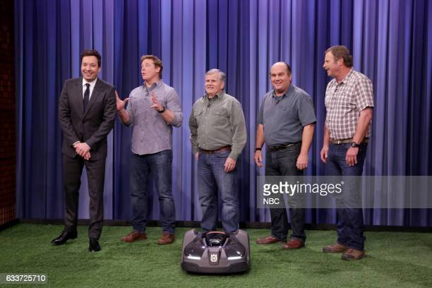 Host Jimmy Fallon and the experts Kevin O'Connor Tom Silva Richard Trethewey and Roger Cook from 'Ask This Old House' on February 3 2017