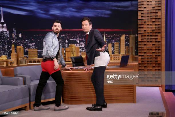 Singer Joe Jonas during an interview with host Jimmy Fallon on February 6 2017
