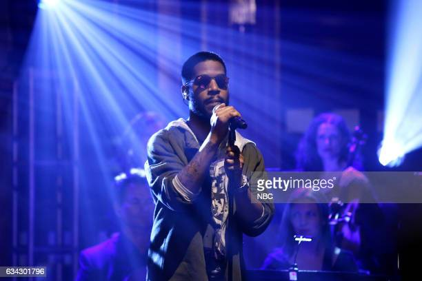 Musical guest Kid Cudi performs on February 8 2017