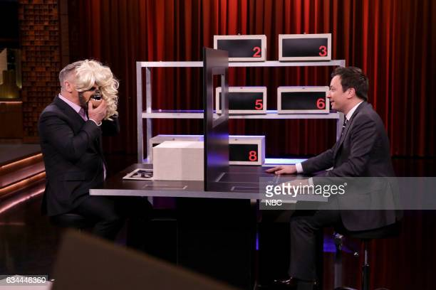 Comedian Alec Baldwin and host Jimmy Fallon play box of lies on February 9 2017