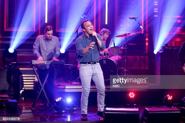 Gerrit Welmers and Samuel T Herring of musical guest Future Islands on February 9 2017