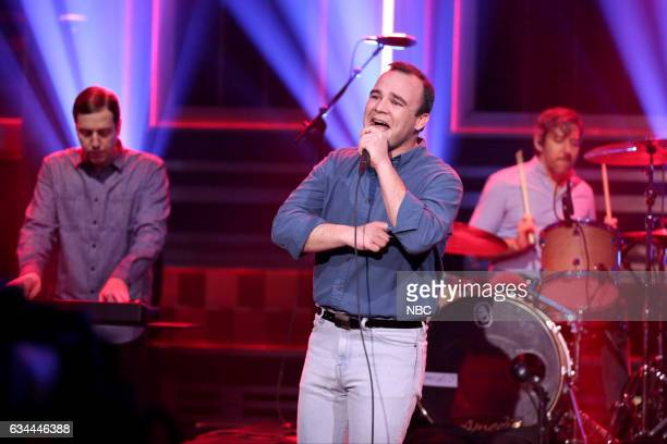 Gerrit Welmers Samuel T Herring and William Cashion of musical guest Future Islands on February 9 2017