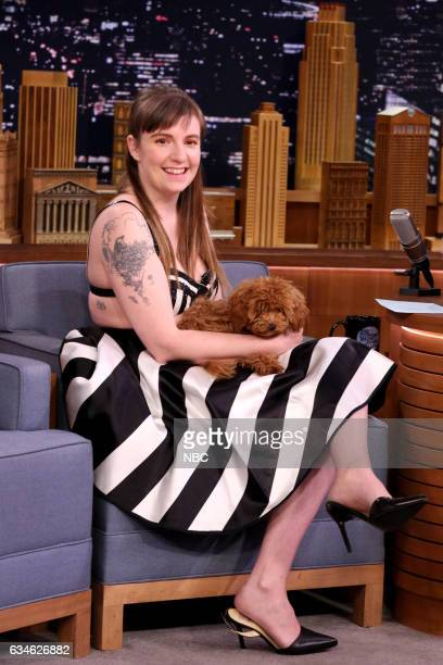 Actress Lena Dunham on February 10 2017