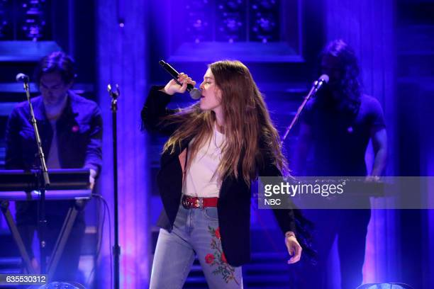 Musical guest Maggie Rogers performs on February 15 2017